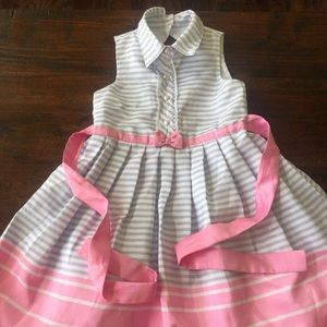 Beautiful blue white and pink halter Dress
